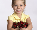 Girl Bowl Cherries