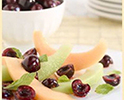 Cantaloupe Cherry Mint Salad