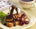 Croissant French Toast Cherries Chocolate
