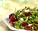 Mache Salad with Bing Cherries