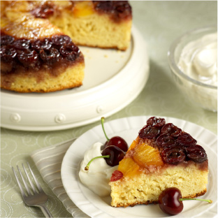 Fresh Bing Cherry Upside-Down Cake